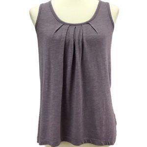 Lilac Pleated Dress Tank
